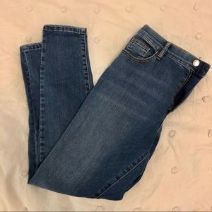 Topshop mid blue Leigh jeans, 32W 30L